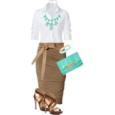 A fashion look from May 2013 featuring Steffen Schraut blouses, Donna Karan skirts and Via Spiga sandals. Browse and shop related looks.
