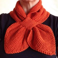 Ravelry: Project Gallery for Moss Stitch Keyhole Scarflette pattern by Jo-Anne Klim