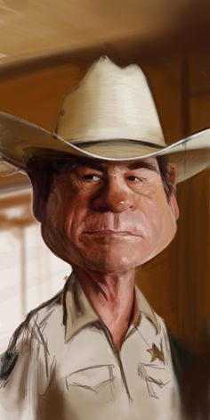 Caricature Collection: TOMMY LEE JONES (WIP)