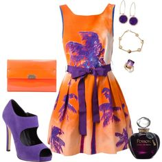 Bold and Bright by maddkat on Polyvore featuring moda, P.A.R.O.S.H., Barneys New York, Jimmy Choo, Rachel Rachel Roy, Chanel and Christian Dior