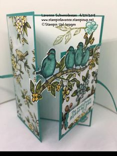 Stampin' Up! Free As A Bird Fun Fold, bird ballad suite Handmade Birthday Cards, Greeting Cards Handmade, Making Greeting Cards, Stampin Up Karten, Karten Diy, Fun Fold Cards, Folded Cards, Stampin Up Catalog, Stamping Up Cards