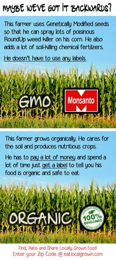 GMO vs Organic ~ There is NO maybe...it IS backwards