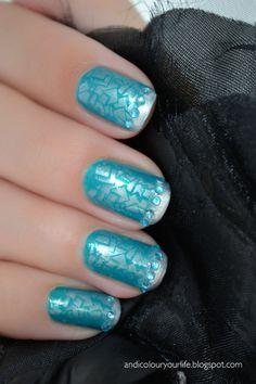 Wedding Nails - Something blue