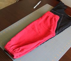 Toddler pants from sweatshirt sleeves. Clever!