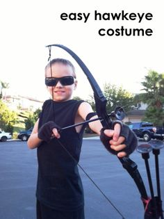 Easy Hawkeye Costume this is super easy to do with a lot of things that you probably already have on hand.