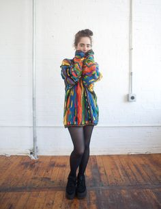80s colorful Coogi Cosby sweater.
