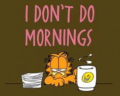 I am not a morning person...