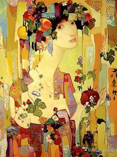 "painting Maia Ramish, ""Pomegranate"""