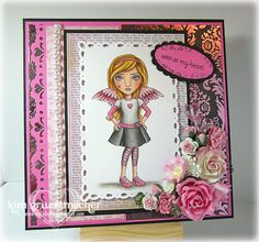 Card featuring Susana Love Stamps - Angel Eyes