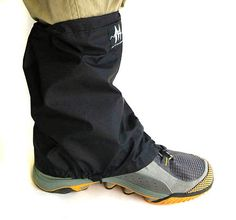 UL Gaiters: I admit I had not just realised how much mud (and grass seeds) a pair of lightweight ankle gaiters would keep out of your shoes/socks: Ultra Light Hiking, Backpacking.