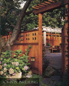 Beautiful Cedar Fence and Gate, johnbreilingdecks.com