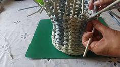 Красивый узор для корзиночки часть 3 как завершить плетение или переход ...