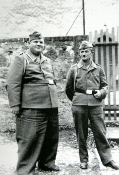 """The obsession of the Nazis with """"Aryan pure race characteristics"""" gets a beating in the case of these two Luftwaffe NCOs. Non-German persons with these physical characteristics would be immediately send to the gas chamber in any of the """"pure Aryan race""""-controlled death camps in accordance to Nazi racialist pseudo-science."""