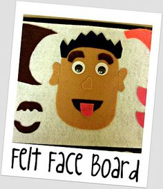 Felt Face Board. Great idea and hubby just gave me that exact clipboard! @rikki noel-willaims - do you think one of your crafty friends would make one of these for me?