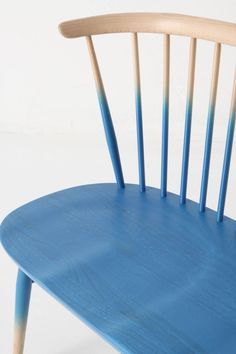 blue ombre-lacquered dip dyed seat
