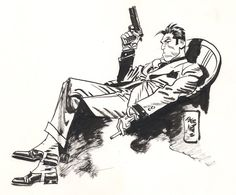 Beautiful drawing of Torpedo by Jordi Bernet. I love that guy! jordi bernet yessssss
