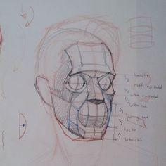 Head chat #art #artist #figure #drawing #lifedrawing #anatomy #anatomydrawing #aesthetic #sketch #sketching #la #bones #portrait #portraitdrawing #how-to by ramon.alex.hurtado