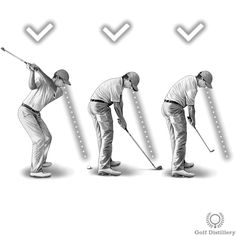 Keep looking down at the ball, even after making contact and up to the moment you no longer can during the follow through. This is contrast to lifting your head just before impact. It constitutes one of the first - if not the first - swing key instructions given to new golfers. Indeed, beginners are often very anxious to see where the ball will go after they hit it, which leads them to lift their heads too soon.