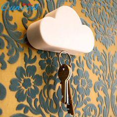 New Qualified Creative Novelty Home Storage Holder White Cloud Shape Magnetic Magnets Key Holder  Levert Dropship dig638