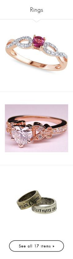 """Rings"" by m-ystic ❤ liked on Polyvore featuring jewelry, rings, rose, pink tourmaline jewelry, diamond rings, diamond jewellery, rose ring, rose jewelry, engagement rings and vintage diamond rings"