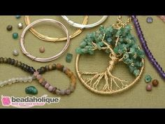 How to Make a Wire Wrapped Tree of Life Pendant - YouTube