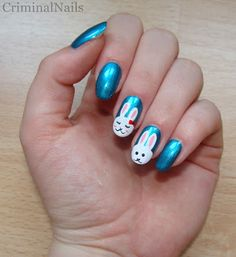 Criminal Nails Bunny up freehanded rabbit manicure Manicure, Nails, Beautiful Nail Art, Nail Arts, Baby Love, Bunny, Rocking Chair, Beauty, Rabbit