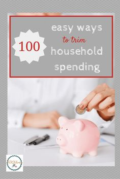 100+ ways to cut household spending and save money in your household.  And yes, they are realistic and doable!