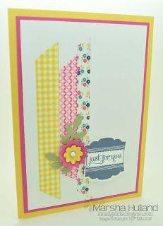 Marsha Hulland - Smudge Smudge....Ink Ink!: Gingham Garden Designer Washi Tape, Label Love Stamp Set, Artisan Label Punch, Boho Blossoms Punch, Little Leaves Sizzlit.