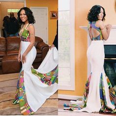 – 30 Times African Print Prom Dresses Stole The Scene! African Prom Dresses, African Wedding Dress, African Dresses For Women, African Attire, African Wear, African Fashion Dresses, African Women, African Style, Ankara Fashion