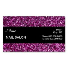 elegant sparkles glitter nail salon businesscard business card template appointment card salon business cards - Nail Salon Business Cards