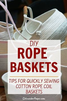 Rope Basket, Basket Weaving, Sewing Basics, Basic Sewing, Diy Room Decor For Teens, Fabric Basket Tutorial, Sewing To Sell, Fabric Bowls, How To Make Rope