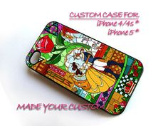 Beauty And Beast Rose, iPhone 4 Case, iPhone 4s Case, iPhone 5 Case, Samsung Galaxy S3 i9300, Samsung Galaxy S4 i9500