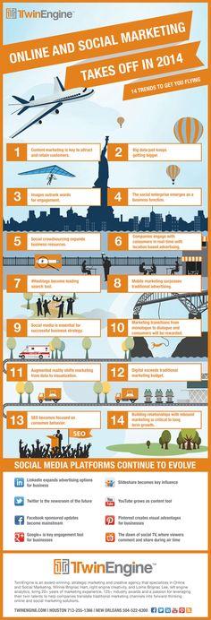 14 Trends für Social Media Marketing 2014 – Infografik » Der Bank Blog