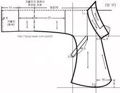 17세기 홑당의 (제도하기) : 네이버 블로그 Japanese Traditional Dolls, Korean Traditional Dress, Traditional Outfits, Costume Patterns, Dress Sewing Patterns, Clothing Patterns, Pattern Sewing, Free Pattern, Modern Hanbok