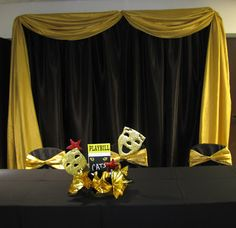 Party People Event Decorating Company: Broadway Themed Awards Banquet