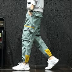 Multi Pockets Cargo Harem Jogger Pants Men Hip Hop Fashion Casual Track Trousers Streetwear Harajuku Hipster Sweatpants-in Harem Pants from Men's Clothing on AliExpress Hip Hop Fashion, Fashion Pants, New Fashion, Style Fashion, Fashion Site, Fashion Styles, Fashion Outfits, Fashion Design, Moda Streetwear