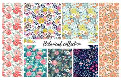 Vector seamless botanical collection by utro_na_more on @creativemarket