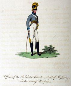 Österreich - Offizier des Infanterie-Regiments 'Erzherzog Karl' in kleiner Uniform