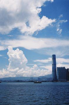 """Hong Kong Harbor Front - Film Photograph 10""""x8"""""""