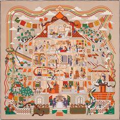 188 meilleures images du tableau carré Hermès   Hermes scarves, Silk ... 8d925c57bd0