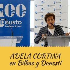 Deusto Business Alumni, celebró el miércoles 24 de mayo, dos actos importantes con la participación de Adela Cortina, filósofa y catedrática de Etica en la Universidad de Valencia. El primero de ellos fue la comida coloquio, a las 14.00 horas, en el Hotel Domine de Bilbao, y la segunda una conferencia en el campus de San Sebastián de Deusto Busines School, a las 19.00 horas. En ambas ofreció una conferencia bajo el título Etica de la empresa: una apuesta prudente y justa.