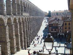 Segovia, Spain. Go to Meson de Candido for the small best roast pork ever.
