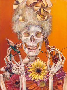 Wildest Fantasy, Day Of The Dead Art, Danse Macabre, Hippie Art, Skull And Bones, Memento Mori, Skull Art, Dark Art, Cute Art