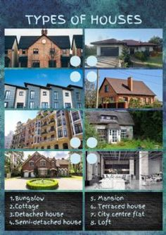 Types of houses Language: English Grade/level: pre-intermediate School subject: English as a Second Language (ESL) Main content: The house Other contents: Reading Test, Kids Reading, Esl, Reading Comprehension For Kids, Centre City, School Subjects, Second Language, Your Teacher, Types Of Houses