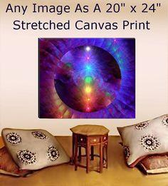 Chakra Art Large Stretched Canvas Print Reiki by primalpainter, $170.00