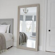 Aspen Mirror   Distressed Grey
