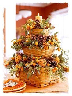 Thanksgiving basket centerpiece - Bing Images.