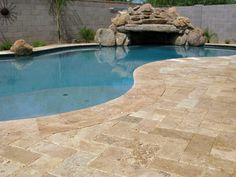 Walnut Travertine is a perfect option to put next to the in your Share with all your friends who would want this flagstone on their pool deck.