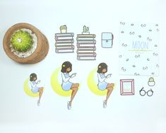 Moon Reader Planner Diecuts by PaperDollzCo Sell On Etsy, Fun Crafts, Free Printables, Etsy Seller, Best Gifts, Anniversary, Moon, Etsy Shop, Invitations