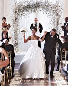 ♥Atlanta Real Wedding at the Biltmore | Takila & Chris African American, Black Bride & Groom, Black Love - Black • L❤VE